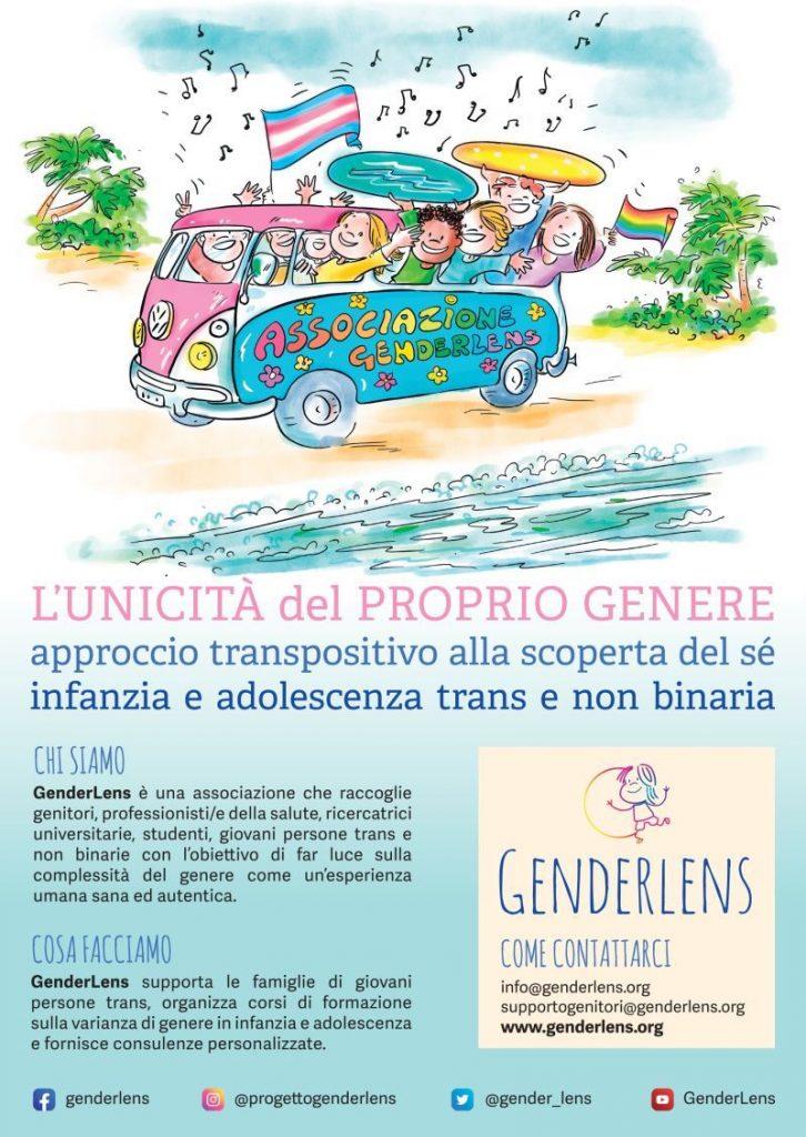 Locandina di presentazione Associazione GenderLens anno 2021